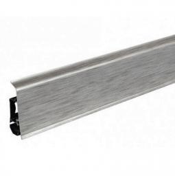70мм*26*2500 мм Плинтус пластиковый ARBITON INDO 17 Алюминий