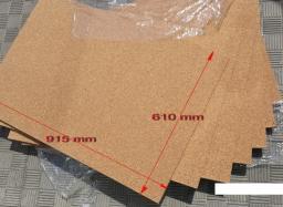 Пробка техническая листовая 2мм* 915мм *610мм