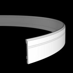 СКИДКИ! 110мм*15*2000мм Полиуретановый плинтус гибкий Европласт 1.53.103 flex