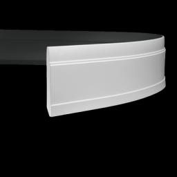 СКИДКИ! 150мм*22*2000мм Полиуретановый плинтус гибкий Европласт 1.53.102 flex