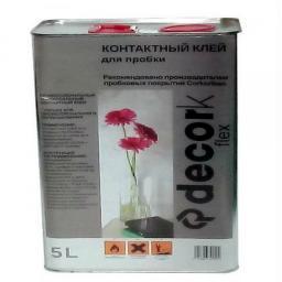 СКИДКА 15% 5 литров Клей для пробки DECORK FLEX Россия, расход на 10 м2