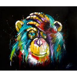 Раскраска Задумчивая шимпанзе, 40x50