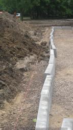 Устройство камней бетонных бортовых