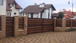 Забор горизонтальный, деревянный