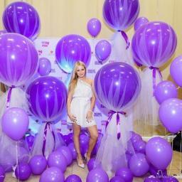 Большие фиолетовые шары