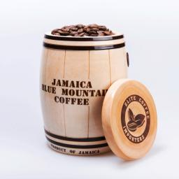 кофе Ямайка Блю Маунтин в деревянном бочонке, 100%, 150 гр.