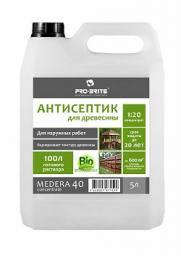 Антисептик для древесины консервант Medera 40 срок защиты до 20 лет (бутыль 1 л) концентрат 1:20