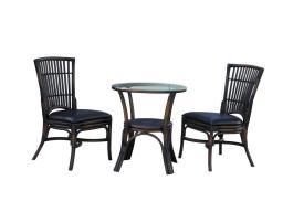 Обеденный комплект (столик + 2 кресла без подлокотников)