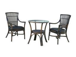 Обеденный комплект (столик + 2 кресла с подлокотниками)