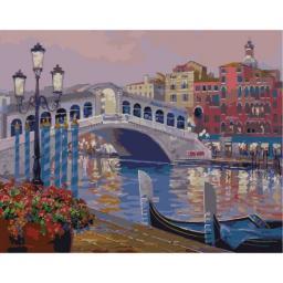 Раскраска Сердце Венеции Микки Сенкарик, 40x50