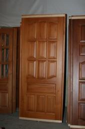 Дверь массив сосны ДГ 21-8 мореный, лакрованный
