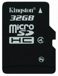 Карта памяти MicroSD 32Gb Kingston Class 4