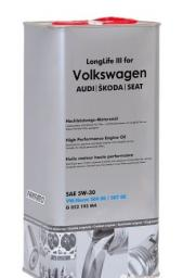 SAE 5W30 VW LongLife O.E.M. for Volkswagen AUDI SKODA SEAT железная канистра 5л