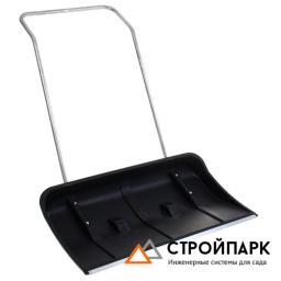 Скрепер пластмассовый с алюминиевой ручкой (на колесиках)