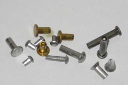 Заклепка полупустотелая медная латунная алюминиевая Гост 12642