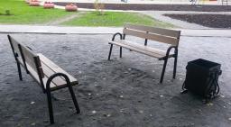 Скамейка со спинкой 1,5 м.