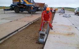 Покрытие дорог железобетонными плитами