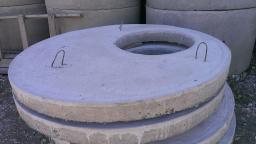 Бетонная крышка колодца 1ПП 10х1