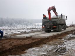 Демонтаж дорожных плит ПАГ-14 (6000 мм х 2000 мм Аэродромных)