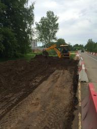 Разработка корыта в дорожном строительстве