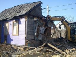 Демонтаж домов с фундаментом