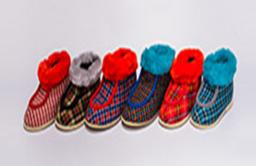 Ботиночки детские с меховой опушкой с мокасиновой вставкой (2 26) Размеры 13,5-18