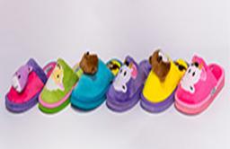 Тапочки детские без пятки (зверята 111) Размеры 30-35