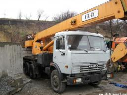 Автокран в аренду 25 тонн, Камаз