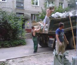 Камаз-самосвал, вывоз мусора, грузчики