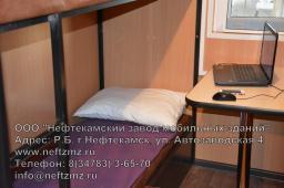 Вагон-дом общежитие на восемь человек для проживания вахтовых бригад от производителя на санях