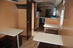 Вагон-дом кухня со столовой на 20 человек