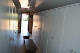 Вагон-дом Торос вагончик мобильная сушилка на 28 мест для просушивания спецодежды на собственном основании раме