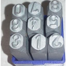Б-6096 Клейма цифровые 10 мм стальные  Китай