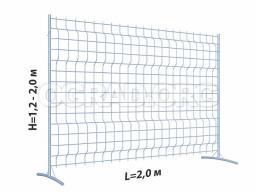 Оцинкованные защитные ограждения, секция ограждения 3D, высота 1,2 м / 1,5 м / 1,8 м / 2 м