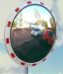 Зеркало сферическое обзорное дорожное круглое со световозвращающей окантовкой D1000