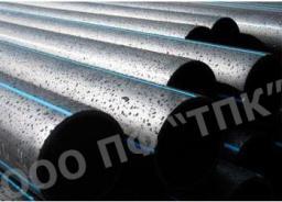 Труба ПЭ 100 (SDR 21), атм 8 * д 125 * 6,0 для воды питьевой в отрезках