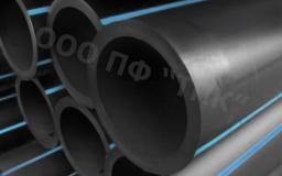 Труба полиэтиленовая д 140 * 15,7 техническая с синей полосой тип