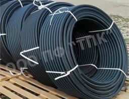 Труба пластиковая диаметр 75 * 4,5 техническая с синей полосой тип