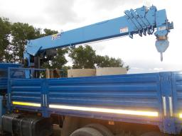 Аренда крана манипулятора: Вездеход на базе Камаз 7 тонн.