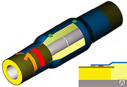 Муфта термоусаживаемая МТУ 02-1-140-600
