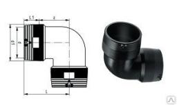Отвод электросварной ПЭ100 SDR11 025 мм 45/90 гр.