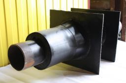 Трубоэлемент неподвижной щитовой опоры НЩО ППУ ПЭ д=76/160 мм