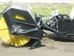 Щетка дорожная большая с гидравлическим поворотом (диаметр дисков 860мм) для мини погрузчика
