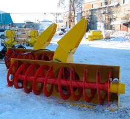 Снегоочиститель фрезерно-роторный (снегомёт) для мини погрузчика Bobcat,Mustang,Forway, Wecan,МКСМ