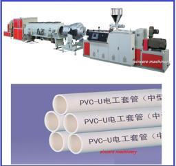 Линия для производства телекоммуникационных защитных труб из CPVC PVC-U,Ф50-200мм.