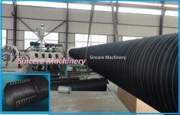 Линия для производства спиральновитых полиэтиленовых труб армированных стальной лентой.