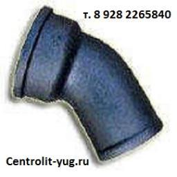 Отвод чугунный канализационный ЧК 50, 100, 150