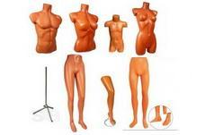 Манекены: торсы, половинки, демонстрационные формы, подставки