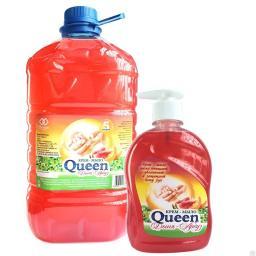 Жидкое крем-мыло Queen (5 литров) в канистрах ПЭТ (5л), аромат Лесные ягоды