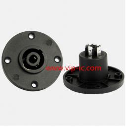 РазъемДинамика(Speaker Connector)SVP563R-M-WT-AG,4P Разъем,25A,SILVER,4P MALE PANEL MOUNT SPEAKERCONNECTOR,SUPERSONIC WAVE PLASTIC CUP.